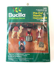 Bucilla Journey To Bethlehem Pre Cut Plastic Canvas Kit Christmas Nativity