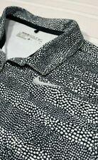 Nike Golf Dri-Fit Stretchy Poly/Spandex Black White Woman's Small Polo Shirt