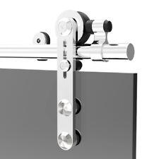 Puerta Corredera De Acero Inoxidable 4-16FT Kit de seguimiento armario de hardware para puerta de cristal