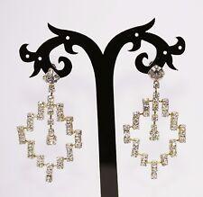 Beautiful Diamante Rhinestone Bridal Drop fashion Earings 1980'