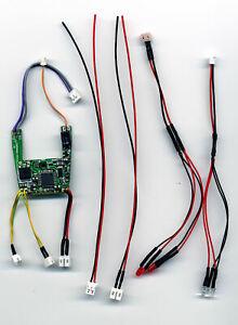 Umbau Kit für Carrera Digital 132 mit Decoder 26732, Kabel und LED Beleuchtung