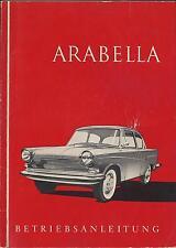 LLOYD ARABELLA Betriebsanleitung 1960 Bedienungsanleitung Handbuch Bordbuch BA