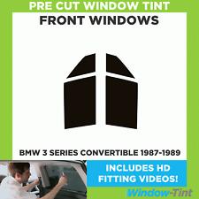Pre Cut Window Tint - BMW 3 Series Convertible 1987-1989 - Front Windows