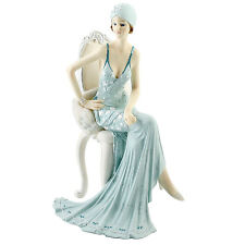 Juliana Art Deco Broadway Belles Teal Blue Lady Figurine / Ornament.New.58378