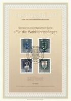 GERMANY 10 OCTOBER 1986 CHARITY STAMPS - GLASS FIRST DAY PRESENTATION CARD SHS