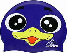 Silicone CRITTER Learn to Swim Cap Purple Penguin Bird Swimming Kids Pool Toy
