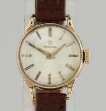 Vintage Omega Manual Ladies Wristwatch 9ct Yellow Gold