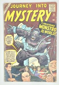 Journey into Mystery 54 * 1.8ish * Unrestored Atlas Marvel Scarce