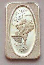 1972 MERRY CHRISTMAS SILVER .999 FINE ONE OUNCE BAR