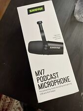 Shure Mv7 Dynamic Xlr/Usb Podcasting Microphone - Black W/ Rk345 Windscreen