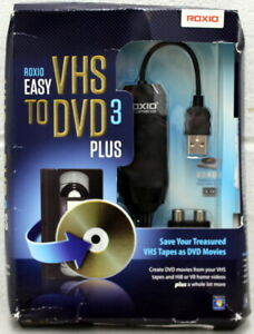 Roxio Easy VHS to DVD 3 Plus Convert Video Tapes Hi8 V8 Transfer Also LP to CD