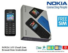 NEW NOKIA 105 UNLOCKED BLACK SIM FREE DEMANDING BASIC PHONE