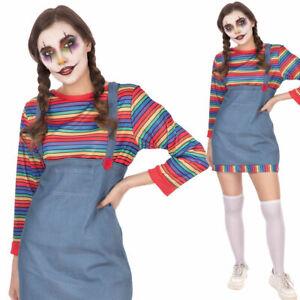 Denim Demon Female Childs Play Ladies Halloween Doll Fancy Dress Costume