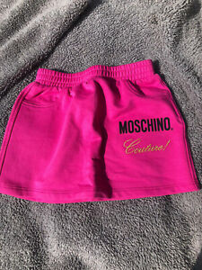Girls Baby Moschino Couture Bright Pink Skirt Designer 18-24 Months New Tags