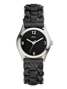 NEU S.OLIVER geflochtende Leder Armbanduhr Damenuhr SO-1615 ehemalige-UVP*€59,95