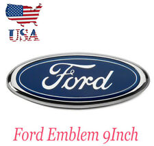 9'' FOR FORD F150 04-14 Front Grille Tailgate Emblem Oval Badge Nameplate Blue