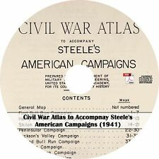 1941 American Campaigns Civil War Atlas - Maps History Book on CD