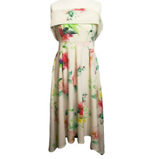 Ivory and Floral 50s Style Dress Size 12 by Very BNWT
