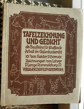 Paul Born: Tafelzeichnung und Gedicht als Bausteine für schaffende Arbeit, 1927