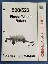 Gehl Finger Wheel Rakes 520522 Operators Manual 907563 B