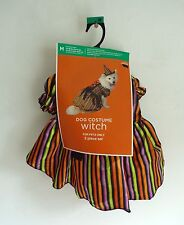 Dog Witch Hat Halloween Costume M 13 - 20 lbs 14 -16 inches Dress Up Outfit