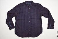 Men's Banana Republic XL Button Shirt Camden Fit Blue Long Sleeve Floral Cotton