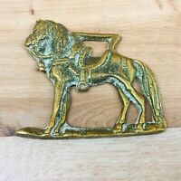Vintage Horse Brass  Horse wearing Saddle Design