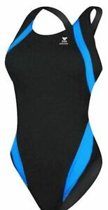 Tyr Titan Splice Maxback (front lined)- Swimsuits- Blue/Black