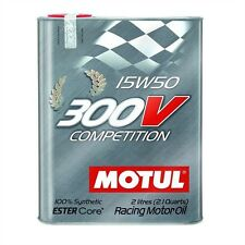 MOTUL 300V 15W50 COMPETITION 100% SYNTHETIC MOTOR/ENGINE OIL 2-LITER CAN