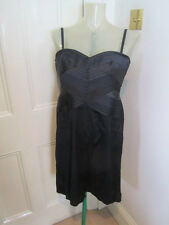 BCBG MAXAZRIA Noir Robe De Cocktail Sz US 12 UK 12-14 petit Ajustement