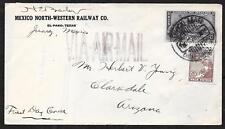 Mexico covers 1929 Airmail Firm FDC cover Juarez to Clarkdale Scarce!
