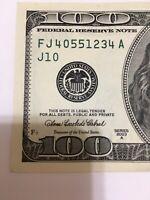 *.2003A  $100U.S. FRN vintage style** S# FJ4055 1234A ( Kansas City) Note