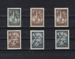 Yugoslavia Croatia 1941 - 3 sets, different colors and with overprint !