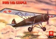 RWD 14 B / LWS CZAPLA (POLISH & ROMANIAN AF MARKINGS) 1/72 PLASTYK (pzl)