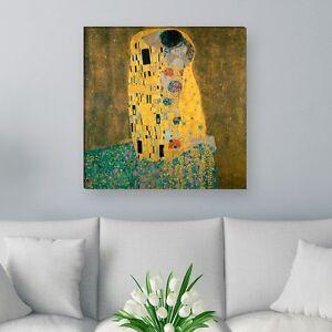 """WANDKINGS Leinwandbild Gustav Klimt - """"der Kuss"""" verschiedene Größen"""