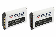 2x Batterie NP-BX1 NPBX1 pour Sony HDR-AS10, AS30, AS50, AS30V Action-Cam