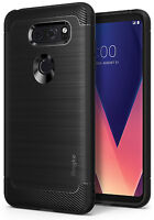 For LG V30 | Ringke [ONYX] Shockproof Rugged Flexible Protective TPU Case Cover