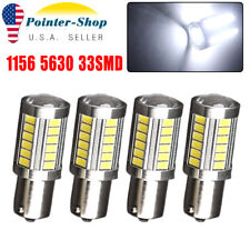 4x HID White 1156 High Power 5630 33SMD LED Backup Reverse Light Bulbs 1073 1141