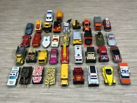 Lot of 38 Vintage Matchbox Cars Mostly 70s 80s Played With Condition Vehicles