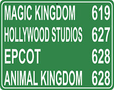 Walt Disney World distance 11x14 Metal Hwy sign - custom miles from your house
