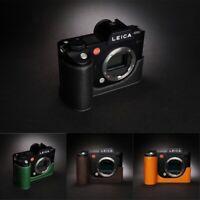 Leica SL Typ601 Camera Insert Half Case Genuine Leather Handmade Retro Cover New