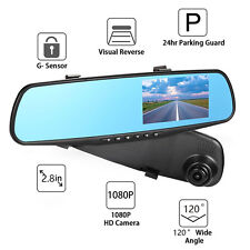 2,8 Zoll Full HD 1080P Auto Kamera Überwachung Rückspiegel Cam DVR Recorder