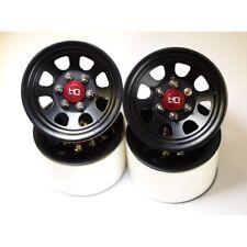 Hot Racing BLW22S01 Steel 2.2 Beadlock 6-Lug Wagon Wheels 12mm Hex (Black)(4)
