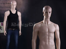 Male Fiberglass Realistic Mannequin With Molded Hair Dress Form Display Mz Wen7