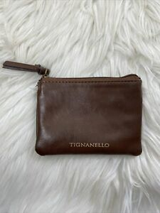 Tignanello Small Brown Zipper Pouch