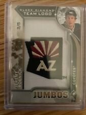 Jeremy Roenick  #3/5 💎 RARE 💎 2020-21 Black Diamond Arizona Coyotes JUMBO LOGO