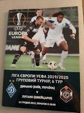PROGRAMM DYNAMO KIEW v FC LUGANO UEFA EUROPA LEAGUE 19/20 EL