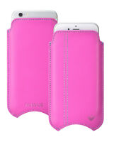 For Apple iPhone 5c Case Pink Napa Leather NueVue Screen Cleaning Pouch Sleeve