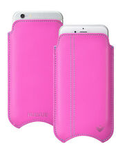 For Apple iPhone 5c Pink Napa Leather NueVue Screen Cleaning Pouch Sleeve Case