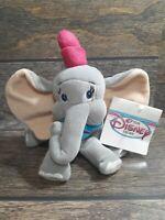 """DUMBO Walt Disney Store Bean Bag Plush Movie Toy Elephant Animal 8"""" Gift VTG Lov"""